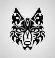Wolf face tribal vector