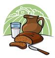 Country breakfast vector