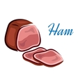 Pieces of ham vector