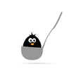 Funny animal in the ladle vector