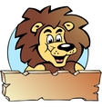 Hand-drawn of an proud lion king - logo design vector