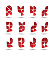 Abstract 3d geometric simple symbols set abstract vector