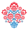 Polish folk art pattern with flowers - wycinanka vector