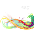 Background of color brush strokes vector