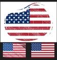 Shabby flag of usa vector