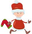 Kid santa claus christmas cartoon vector
