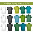 Big design set shirts 21 vector