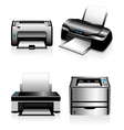 Computer printers - laser printers and ink jets vector