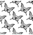 Seamless pattern of butterflies vector