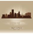 Providence rhode island skyline city silhouette vector