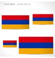 Armenia flag template vector