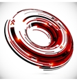 Abstract techno 3d circle background vector