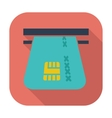 Credit card single flat icon vector