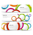 Set of horizontal banners with 3d circles vector