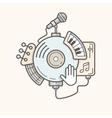 Music line icon vector