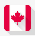 Simple flat icon canada flag vector