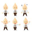 Set businessman cartoon character vector