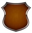 Wooden shield vector