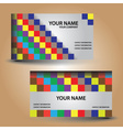 Business card color bricks eps10 vector