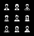 Set icons of people vector