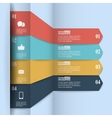 Modern paper infographics in flat design with vector