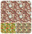 Seamless flowers pattern set of vector