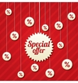 Special offer poster with percent discount vector