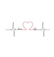 Love life heart beat vector