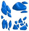 Blue rock vector