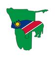 Namibia black rhino vector