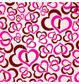 Love hearts seamless pattern eps10 vector