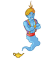 Friendly genie vector