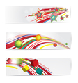 Abstract colorful web banner set vector