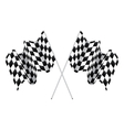 Checkered flags vector