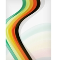 Colorful abstract flowing elegant lines vector