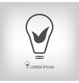 Bulb with leaves as eco energy symbol vector
