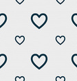 Medical heart love icon sign seamless pattern with vector