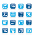 Wireless and technology icons vector