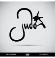 Judo hand lettering - handmade calligraphy vector