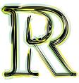 Font letter r vector