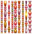 Seamless pattern with colored beads vector
