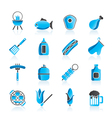 Grilling and barbecue icons vector