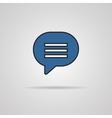 Blue blank map pin icon web button vector