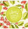Christmas mistletoe border vector