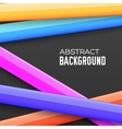 Abstract rainbow banner form background concept vector