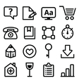 Web menu navigation line icons set - stroke style vector