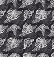 Seamless pattern with white flowers on a black vector