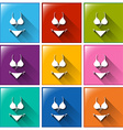 Swimwear icons vector