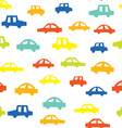 Seamless pattern with cars funny design vector
