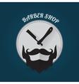 Modern flat style barber shop template vector